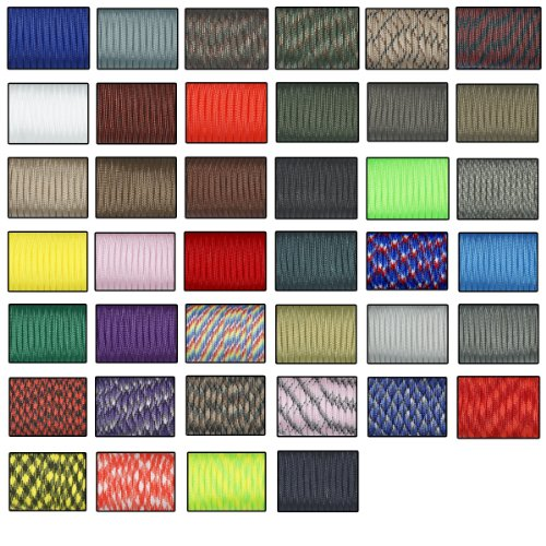 Yougle 20 Pcs/lot 550 Paracord Parachute Cord Lanyard Mil Spec Type III 7 Strand 100 Ft Fedex to USA by YOUGLE
