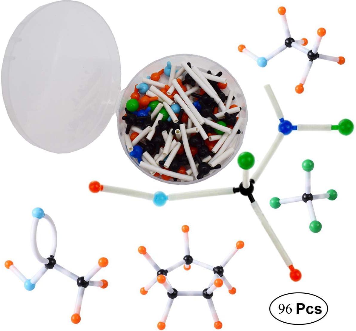 Mengger Modelos Moleculares Kit 96pcs Química Orgánica e Inorgánica Química Científica atomía Atomizador enseñanza Set de Aprendizaje Molecular Modelo Molecular