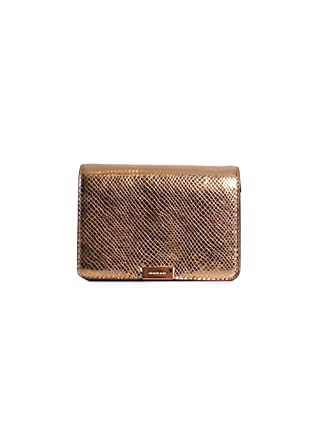 0acda86aeddc Image Unavailable. Image not available for. Color  Michael Kors Jade Medium  Gusset Snake Skin Embossed Leather Clutch Crossbody ...