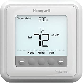Honeywell TH6210U2001/U T6 Pro Programmable Thermostat, 2 Heat / 1 Cool Heat Pump Or 1 Heat / 1 Cool Conventional