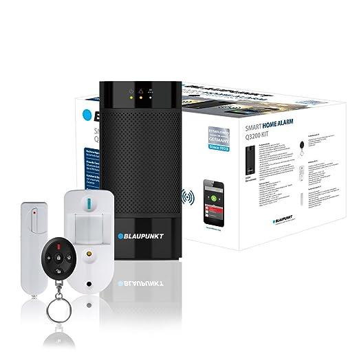Blaupunkt Smart Home Q3200- Alarma inalámbrica IP Sistema de seguridad con Smartphone aplicación, botones, 433/868, Nickel-Metal Hydride (NiMH), ...
