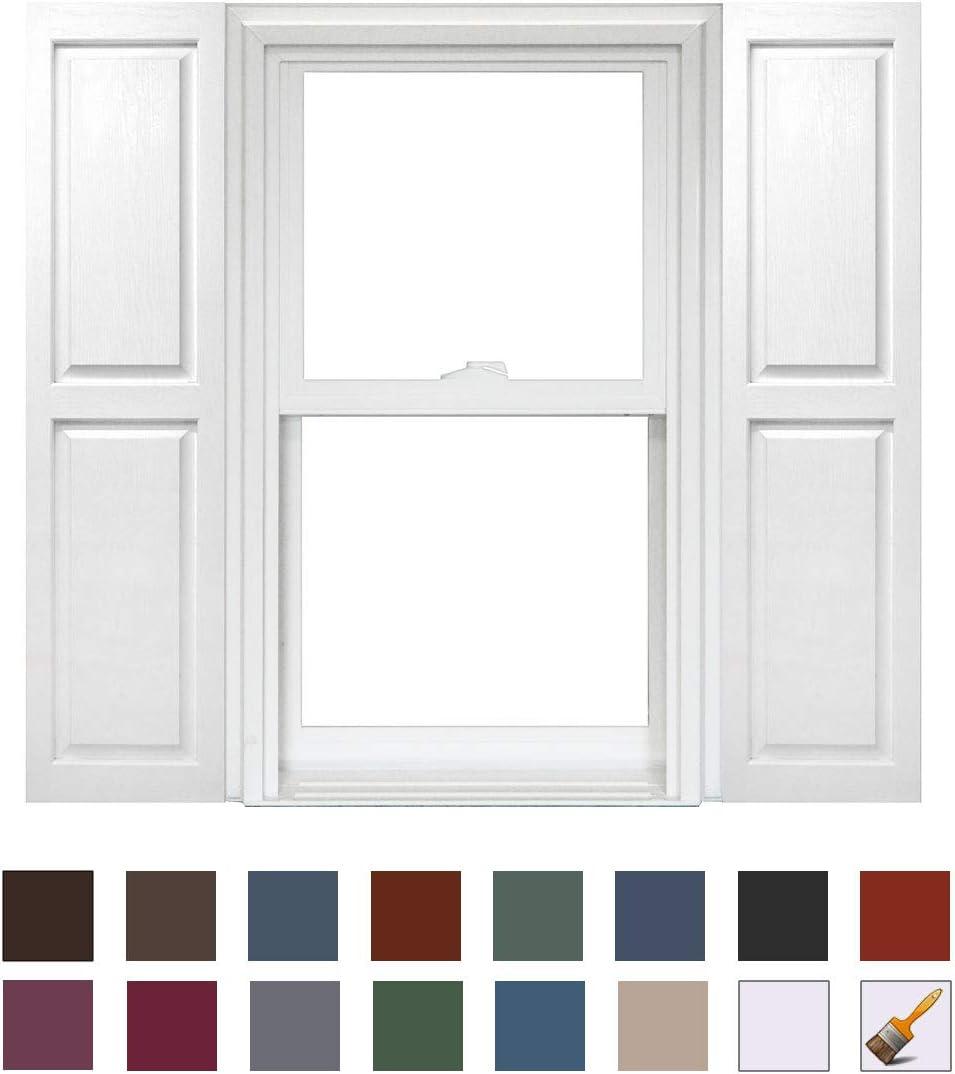 Homeside Raised Panel Shutter 1 Pair 14-1//2in x 47in 050 Black