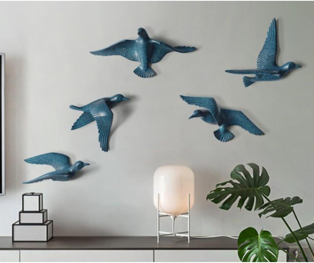 LOVIVER Decorativo De Pared con Forma De Gaviota De Resina En Forma De Dormitorio De TV A Azul