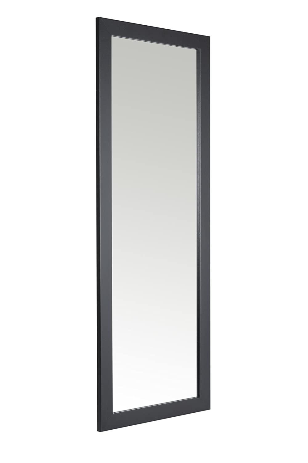 38 x 99cm Black Framed Mirror with Wall Hanging Fixings