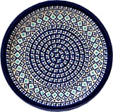 Polmedia Polish Pottery 11-inch Stoneware Plate H0200A Hand Painted from Zaklady Ceramiczne in Boleslawiec Poland. Shape S613A(GU1014) Pattern P3673A(217A)