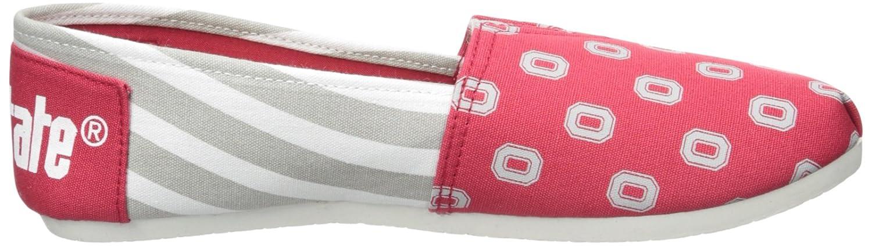 M FOCO Ohio State Buckeyes NCAA Womens Stripe Canvas Shoes