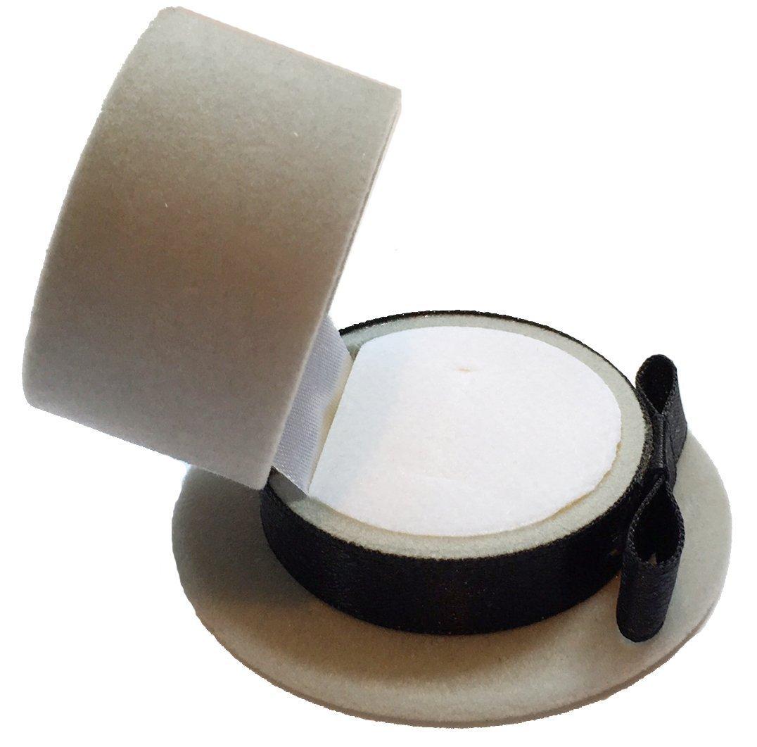 Amazon.com: Sheep Dreams Top Hat Shaped Ring Box, Engagement Ring Box, Alto Somprero Caja por Anillo de Compromiso (Light Grey): Home & Kitchen
