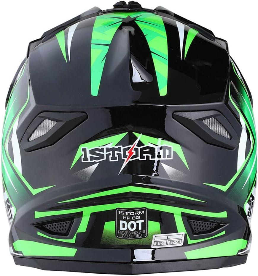 1Storm Adult Motocross Helmet BMX MX ATV Dirt Bike Helmet Racing Style HF801; Matt Black
