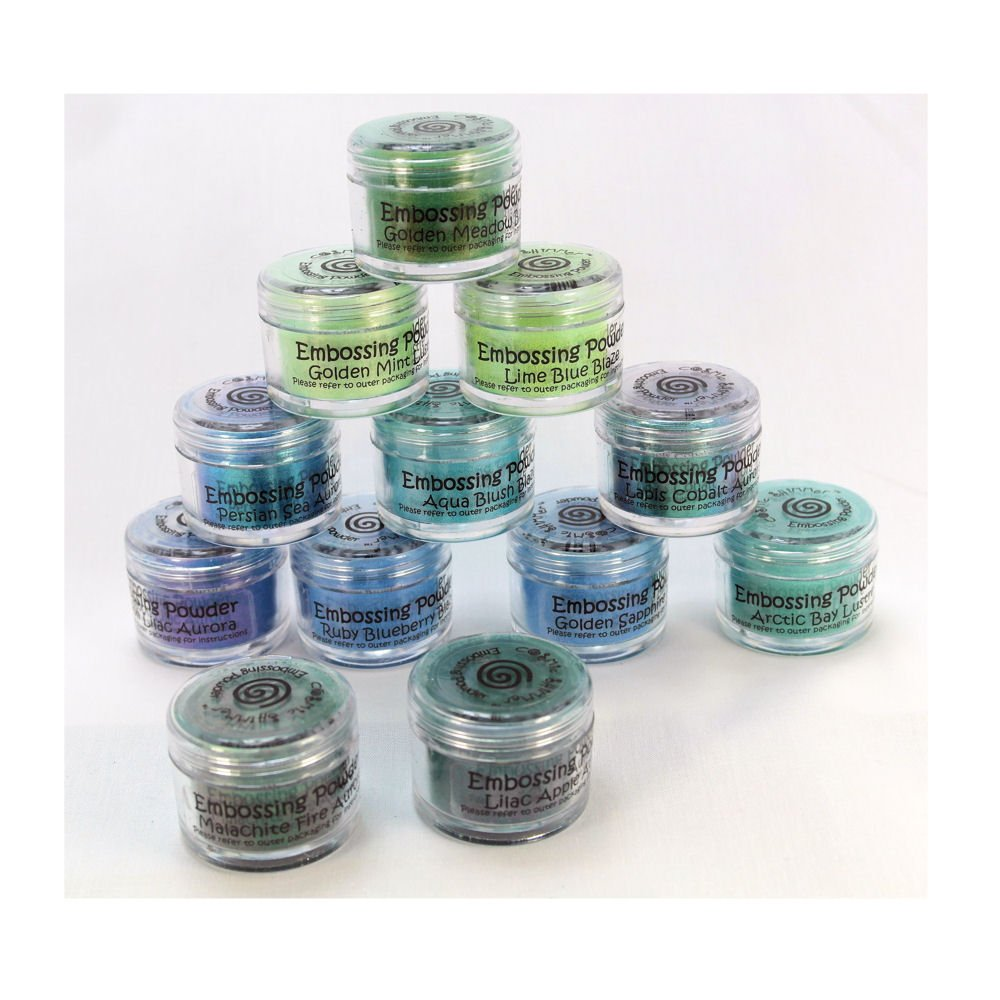 Cosmic Shimmer Embossing Powder Set, Green/Blue Creative Expressions CSEPSET4