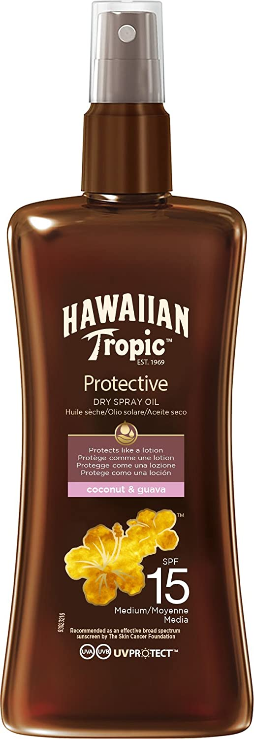 Hawaiian Tropic SPF15 Protective Dry Spray Oil Y00526F0 48234