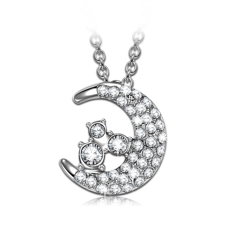 J NINA luna Collar Mujer fabricados con cristales SWAROVSKI® Joyería Colgante para