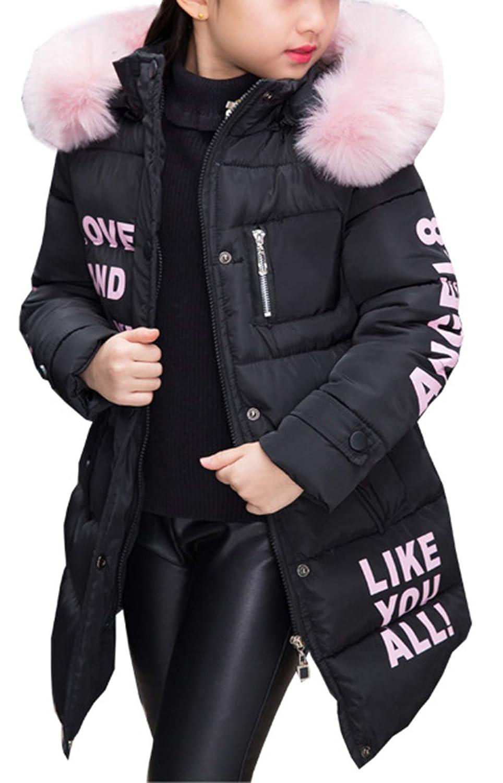 Bevalsa Bambine e Ragazze Piumino Invernale Giacche Impermeabile Piumino Cappuccio Cappotto Bambina Snowsuit VASA1879