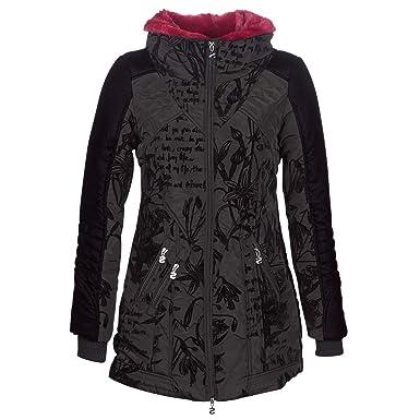 d894ae68350 Desigual Doudoune Femme Morgan Noir Motifs 18wwewbg - Taille - 36 ...