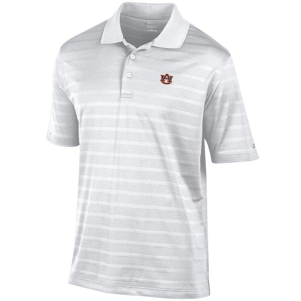 Elite Fan Shop Auburn Tigers Polo Striped White - M