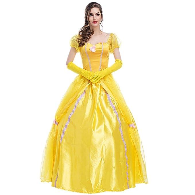 xiemushop Disfraz de Princesa para Mujer Cosplay Vestido Halloween Carnaval