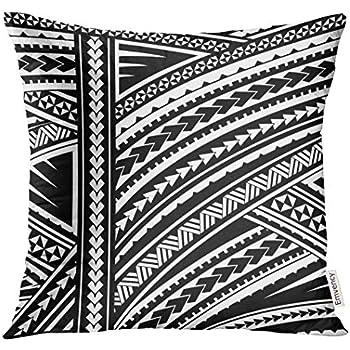 73117d2309555 VANMI Throw Pillow Cover Blue Polynesian Maori Style Tribal Design Tattoo  Aboriginal Decorative Pillow Case Home Decor Square 20x20 Inches Pillowcase