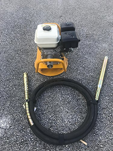 Cormac 6.5 Hp gas concrete vibrator, base mounted with 20 ft hose with 1 1/2
