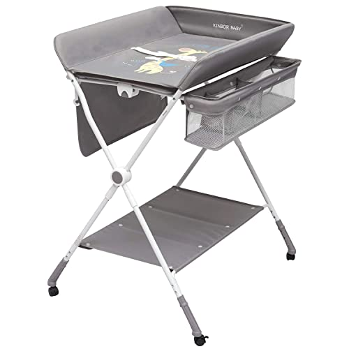 Kinbor Baby Changing Table Portable Folding Diaper Changing Station