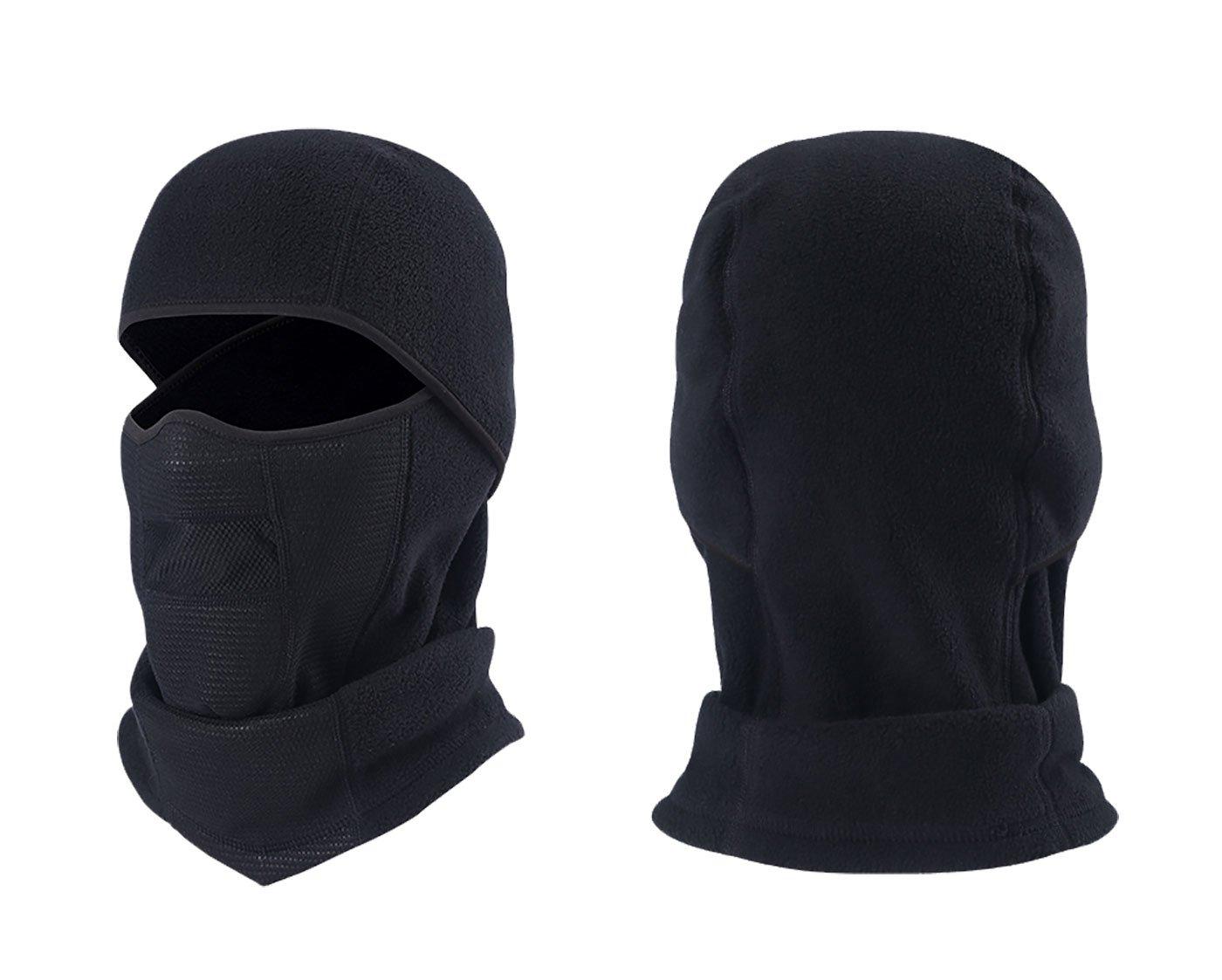 Panegy Funktions Sturmhaube Balaclava Skimaske Motorradmaske Fahrrad Maske Outdoor Sport Gesichtshaube Kopfhaube Schwarz 45*28cm