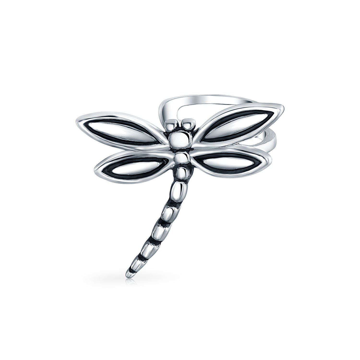 Bling Jewelry .925 Silver Dragonfly Motif Insect Ear Cuff Earrings PFS-12-6460