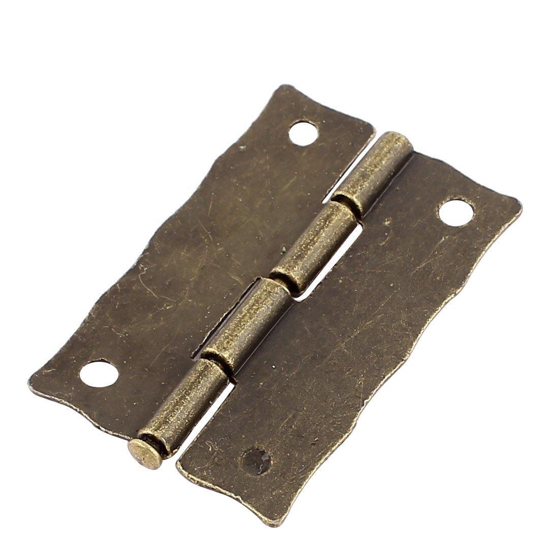 Porte eDealMax Boîte à bijoux Case Gravé Design Charnière Bronze Tone 37mmx23mm 30pcs by eDealMax