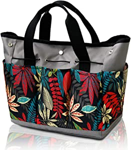 Garden Tools Bag - Gardening Storage Tote with Pockets for Women/Men's Garden Work, Good Ox-Ford Organizer Keep Tools Neaty