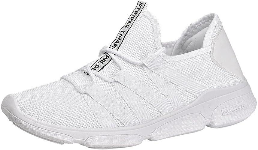 Botas Altas Mujer Hombres Al Aire Libre Malla Cruzada Atada Transpirable Zapatillas De Deporte Zapatos De Gimnasia Zapatos Ocasionales Blanco EU:41: Amazon.es: Zapatos y complementos