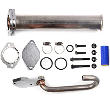eccpp Power Stroke Diesel Turbo eliminar EGR Kit para Ford F250 F350 F450 F550 Super Duty V8 6.0L Power Stroke Diesel: Amazon.es: Coche y moto