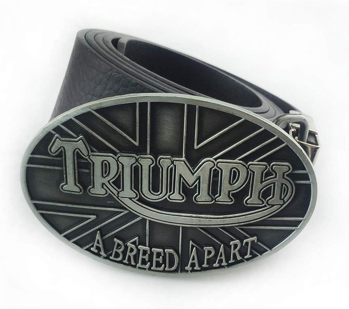 2PCS Zinc Alloy British Flag TRIUMPH Belt Buckle Business Suits Belt//Jeans Belt With Buckle