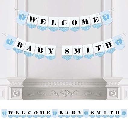 Amazon.com: Custom pies de bebé azul – personalizada Baby ...