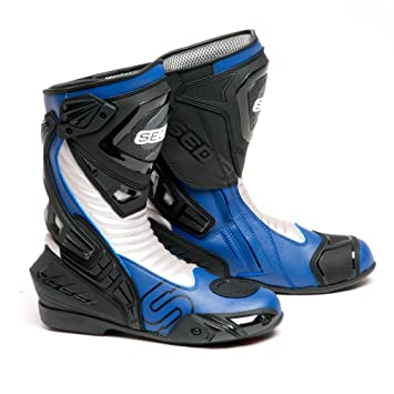 Amazon.com: SEDICI Ultimo Leather Motorcycle Boots - 10, Blue ...