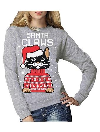 detailed look 4b71c cbedf Green Turtle T-Shirts Santa Claws Krallen - Katzenliebhaber Damen  Weihnachtspullover Frauen Sweatshirt