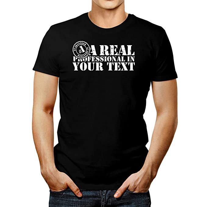17a272299 Amazon.com: Idakoos A Real Professional in Add Your Own Text ...