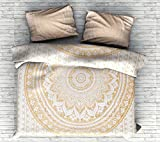 Gold Color Indian Ombre Bohemian Mandala Duvet Cover Bedding Donna Cover With 2 Pillows Beautiful Exclusive