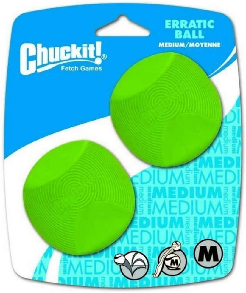Chuckit! 20120 Erratic Ball 2 Pelotas para Perros Compatible con ...