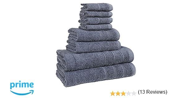 Juego de toallas de calidad de hotel, de bemode, 100% algodón, superssuaves, altamente absorbentes, 4 u 8 piezas: Toallas de baño, de mano y para la cara ...