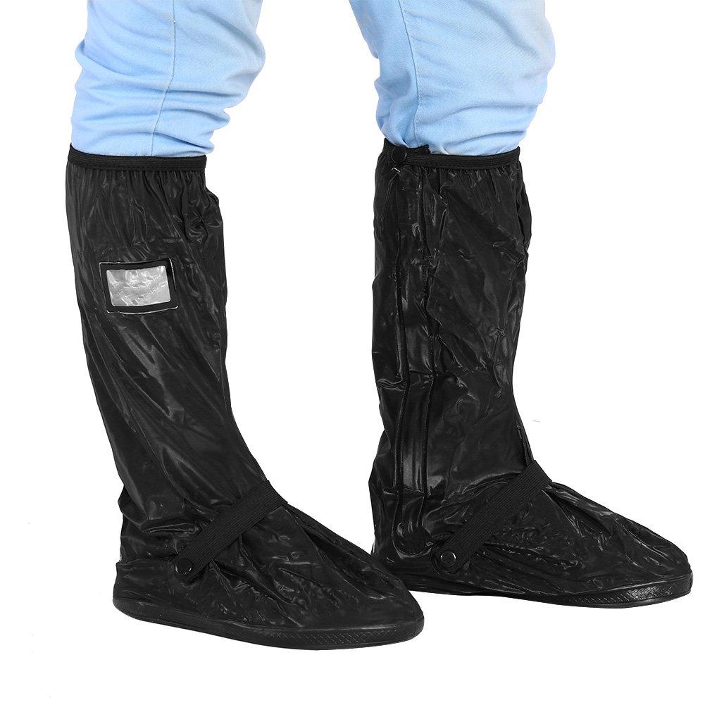 ciclismo esqu/í snowboard etc pesca Elerose Los zapatos antideslizantes impermeables cubren la correa el/ástica engrosada suela Bueno para montar en motocicleta escalada L-Negro