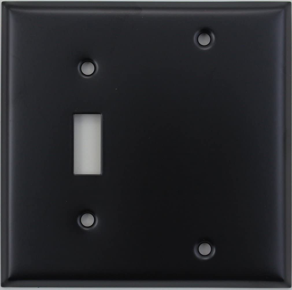 Matte Black Two Gang Wall Plate One Toggle Light Switch One Blank