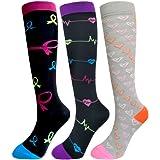 Compression Socks For Men & Women - 3/6 Pairs - Best for Running,Medical,Sports,Flight Travel, Pregnancy - 20-25mmHg