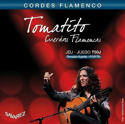 Savarez Cuerdas para Guitarra Clásica Flamenco juego T50J Tensión ...