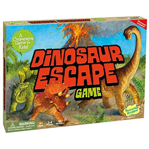 Peaceable Kingdom Dinosaur Escape Award Winning Cooperative Game of Logic and Luck for Kids -