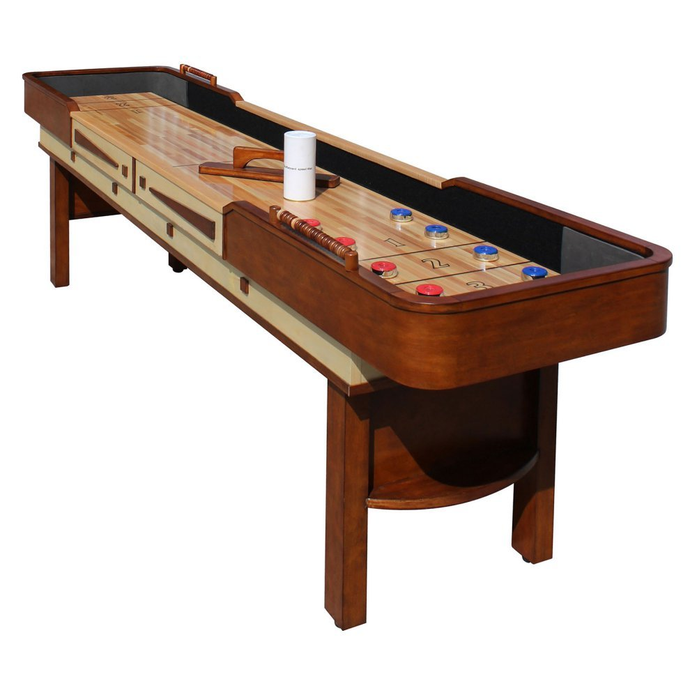 HATHAWAY Merlot 12 ft. Shuffleboard Table by HATHAWAY