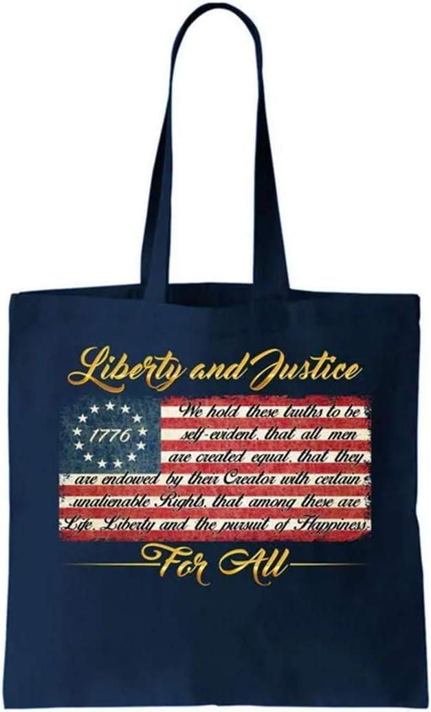 Bolsa de lona de la libertad y la justicia para todos la ...