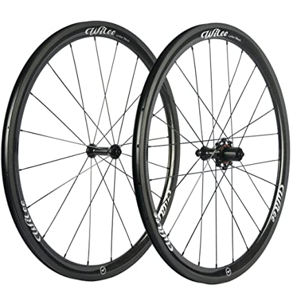 Carbon Fiber Wheels >> Amazon Com Wilee Bike 38mm Clincher 23mm Width Carbon