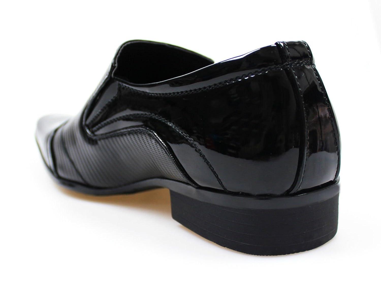 Scarpe eleganti uomo nero man s shoes modello francesine high class  cerimonia (41)  Amazon.it  Abbigliamento 92de8f56afb