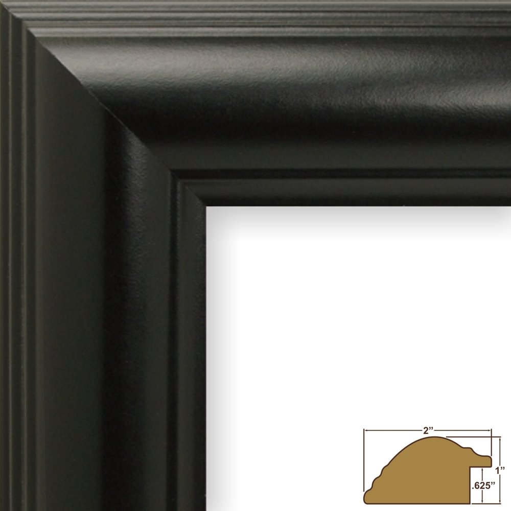 Amazon craig frames 88079 15 by 17 inch picture frame amazon craig frames 88079 15 by 17 inch picture frame smooth finish 2 inch wide black satin jeuxipadfo Images