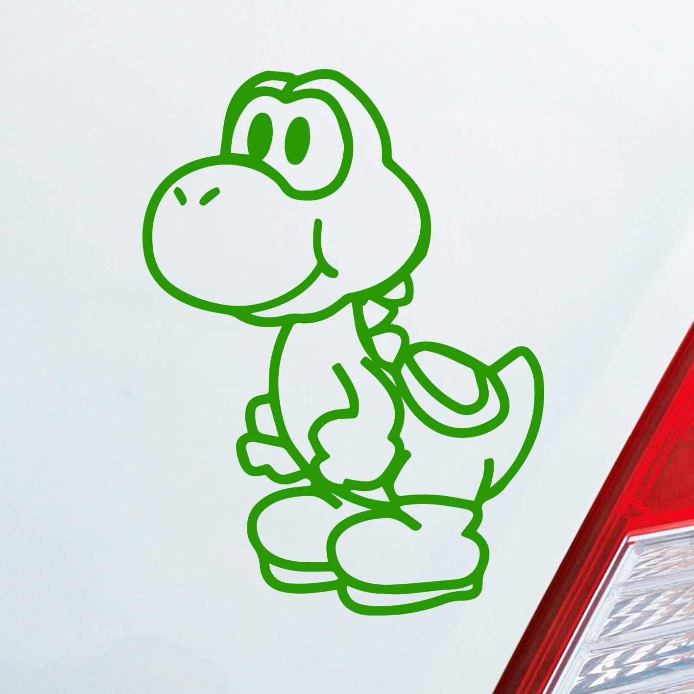 Car Sticker In Your Choice Of Colour For Yoshi Super Mario Bros Nintendo Fans 10 X 14 Cm Auto