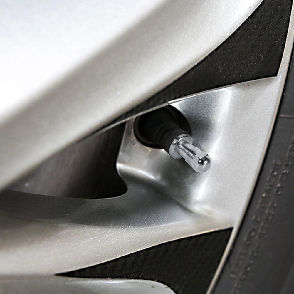 Keenso 4Pcs Car Tubeless Wheel Tire Valve Stem Metal Bolt In High Pressure Flush Mount Rear Tire Pressure Monitor Valve Stem Cap Tyre Sensor Indicator