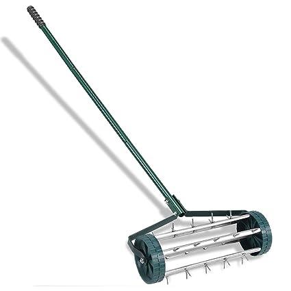 Incroyable Goplus 18 Inch Rolling Lawn Aerator Garden Yard Rotary Push Tine Spike Soil  Aeration Heavy