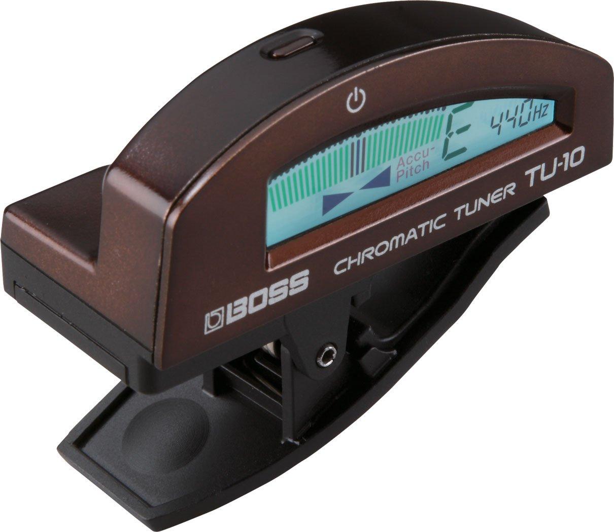 Roland BOSS TU-10 - Sintonizador cromático de clips, colore: marrón TU10BN